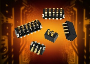 AVX's new 9155-700 Series 2mm-pitch right angle board-to-board battery connectors