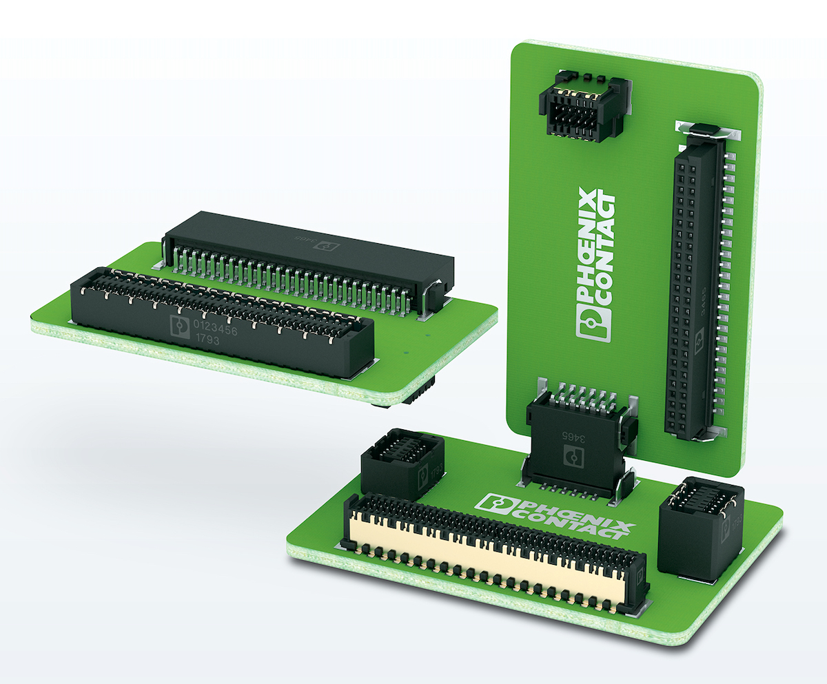 New Connector and Cable Products: April 2019 - Phoenix Contact's new FINEPITCH 0.8 Series board-to-board connectors
